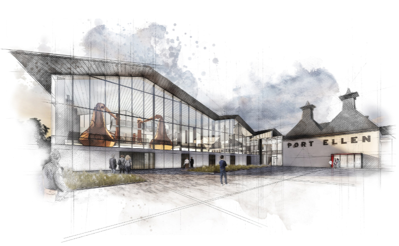 Artists impression of Port Ellen distillery